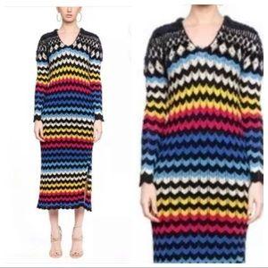 NWT Farm Rio Modern Chevron Sweater Maxi Dress